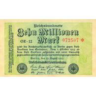 10 Millionen  Mark Reichsbanknote 22.08.1923  Geldgeschichte