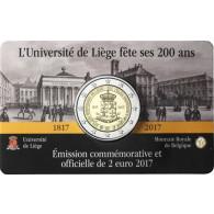 2 Euro Sondermuenzen Belgien 2017 Universitaet Luettich Coin Card