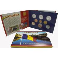 Andorra Kursmünzen Centime 2003 im Folder