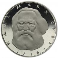 Deutschland 5 DM 1983 PP Karl Marx in Münzkapsel