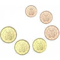 Kleinmuenzen 1 Cent bis 50 Cent Vatikan 2017 Papst Wappen