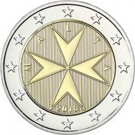 2 Euro Münze mit Münzzeichen F für Frankreich