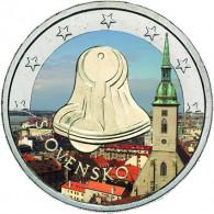 2 Euro in Farbe Slowakei Demokratie und Freiheit