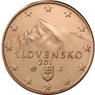 Slowakei 5 Cent 2014 bfr. Gifpel der Berges Kriva´n, Hohe Tatra