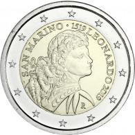 2 Euro Gedenkmünze Leonardo da Vinci 2019 aus San Marino online bestellen
