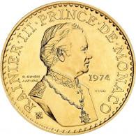 Monaco 50 Francs 1974 Gold  25.Regierungs-Jubiläum - Fürst Rainier III.