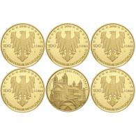 Deutschland 100 Euro Gold 2019 Dom zu Speyer Komplettsatz Gedenkmünzen