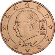 Euromuenze aus Belgien  2 Cent 2012 mit  Koenig Albert II