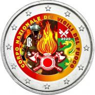 Italien 2 Euro 2020  80 Jahre Feuerwehr in Italien in FARBE