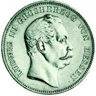 Kaiserreich Hessen -  5 Mark Ludwig III 1875 - 1876 Echtes Original