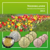 Kursmünzensatz Niederlande 2015 Flagge