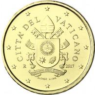 10 Cent mit Papst Wappen Franziskus 2017 aus dem Vatikan
