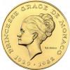 Monaco 10 Francs 1982 Stgl. Gold Porträt Gracia Patricia