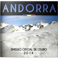 Andorra 3,88 Euro 2014 bfr KMS  1 Cent bis 2 Euro im Folder