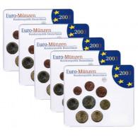 Deutschland KMS original Kursmünzensätze komplett  im Folder Stempelglanz bestellen Münzhändler