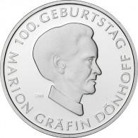 Gedenkmünze 10 Euro 2009 PP - Gräfin Dönhoff -