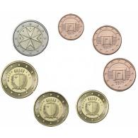 Malta 1 Cent - 1 Euro 2012 bfr. lose im Münzstreifen