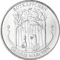 Grimms Märchen 20 Euro 2016 Silber Stgl. Rotkäppchen