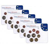 Deutschland 5 x 3,88 Euro 2004 Stgl. KMS im Folder  Mzz. A - J