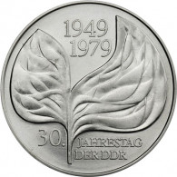 DDR Gedenkmünzen  20 Mark 1979 - 30. Jahre Blattprobe