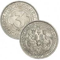 """J.327 - 3 Reichsmark 1927 """" Nordhausen """""""