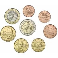 Griechenland 1 Cent - 2 Euro 2008 bfr. lose im Münzstreifen
