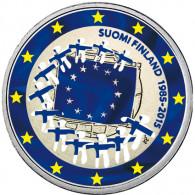 Finnland 2 Euro 2015 bfr.  30 Jahre Europa-Flagge in Farbe