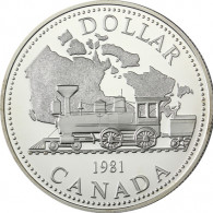 Kanada  1 Dollar 1981 Silber Transkanadische Eisenbahn