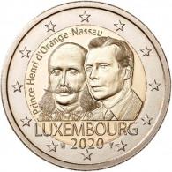 Luxemburg 2 Euro 2020 Henri von Oranie-Nassau