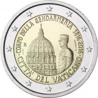 Vatikan 2 Euro 2016 Stgl. 200 Jahre Gendarmeriekorps in Münzkapsel