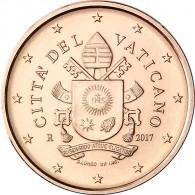 Vatikan Kursmuenzen 1 Cent 2017 Wappen Papst Franziskus