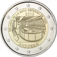 Andorra 2 Euro 2016 bfr. 150.jähriges Jubiläum der Neuen Reform von 1866