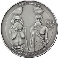 Silber 1 Oz Antique Finish Mursi