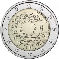 2 Euro Münzen Europa Flagge Portugal