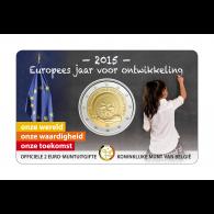 Belgien 2 Euro 2015 stgl. Europäisches Jahr der Entwicklung in der Coin Card