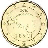 Estland 20 Cent 2016 bfr. Landkarte