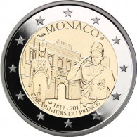 2 Euro Sondermünzen Monaco 2017 Karabinierskompanie
