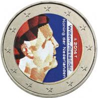Niederlande 2 Euro 2014 König Willem-Alexander in Farbe