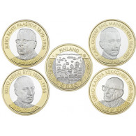 Finnland 4 x 5 Euro 2017 bfr. Präsidenten - Serie Komplett