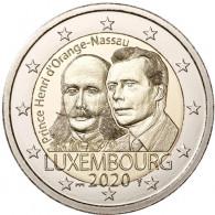 Luxemburg 2 Euro 2020 Stgl. 200. Geb. Henri von Oranien-Nassau Mzz.St. Servatius Brücke