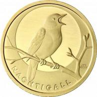 1/8 Oz Goldmünze Nachtigall - Deutschland 20 Euro Gold 2016 Mzz. J