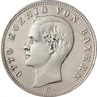 j.43 Kaiserreich 2 Mark 1891-1913 König Otto von Bayern