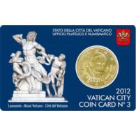 Vatikan 50 Cent 2012 Stgl. Benedikt XVI in Coin Card Nr. 3 Laokoon Gruppe