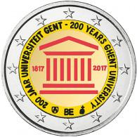 200 Jahre Universität Gent als 2 Euro Sondermünze