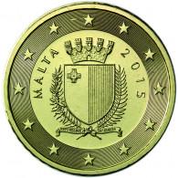 Malta 10 Cent 2015 bfr. Staatswappen Malta