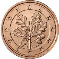 Deutschland 2 Cent 2014 Mzz A mit Eichenzweig Kursmünzen