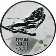 Russland 3 Rubel 2014 PP Sotschi Serie I - Abfahrtslauf