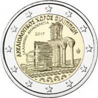 Griechenland 2 Euro Gedenkmünzen Archäologische Anlagen von Philippi 2017