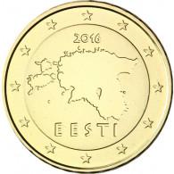 Estland 10 Euro- Cent  2016 bfr. Landkarte Kursmuenze
