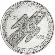 Silbermünze 5 DM Germanisches Museum - Gedenkmünze BRD 1952 vorzüglich